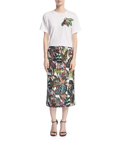 Jungle Jacquard Midi Skirt and Matching Items