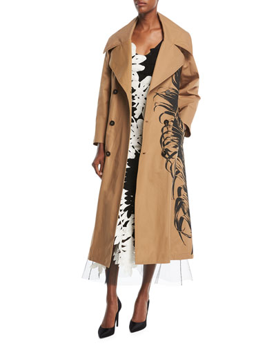 Fern-Embroidered Trenchcoat and Matching Items