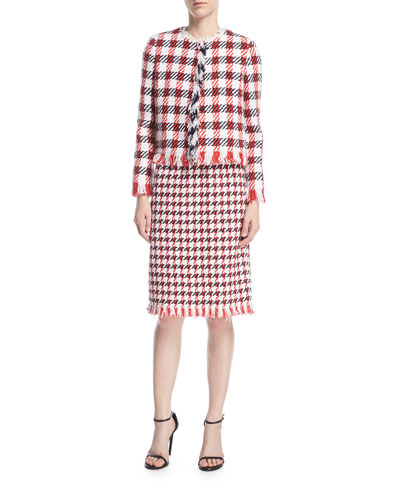 Jumbo Houndstooth Tweed Skirt and Matching Items