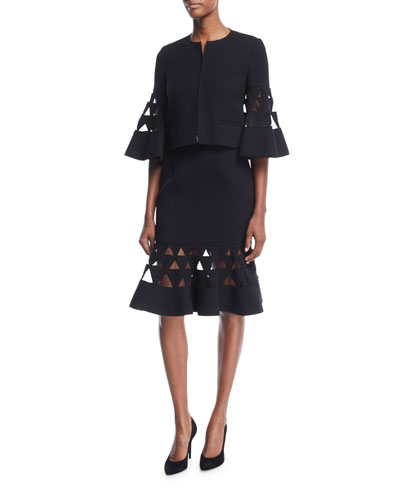 Flare Triangle Cutout Skirt  and Matching Items