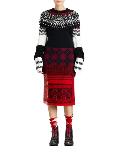 Fair Isle Knit Skirt and Matching Items