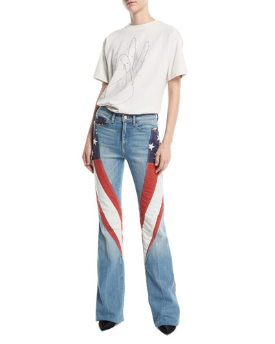 Demi-Vintage Denim Flag Flared Jeans and Matching Items