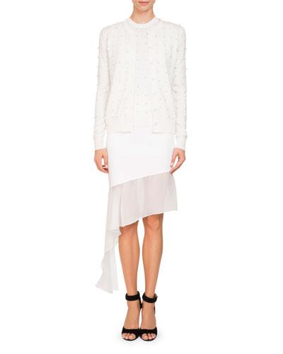 Asymmetric Chiffon-Trim Skirt and Matching Items