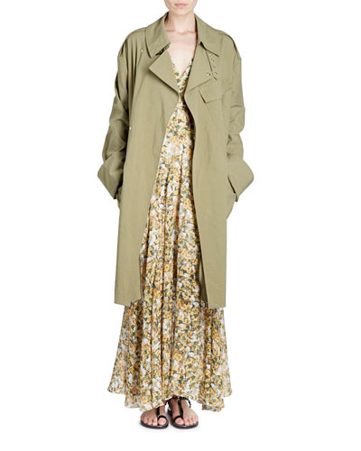 Grommet-Studded Trenchcoat and Matching Items