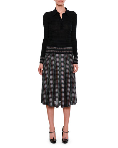 Pleated Chenille Midi Skirt and Matching Items