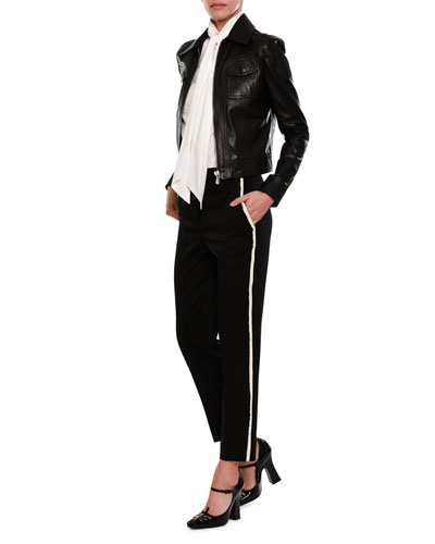 Straight-Leg Side-Stripe Pants and Matching Items