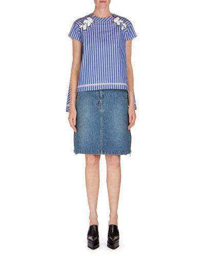 Ruffle-Side Denim Skirt and Matching Items