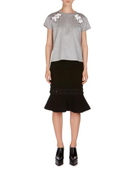 Lace-Up Short-Sleeve T-Shirt
