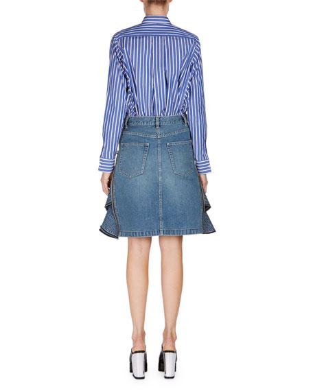 Striped Button-Down Blouse