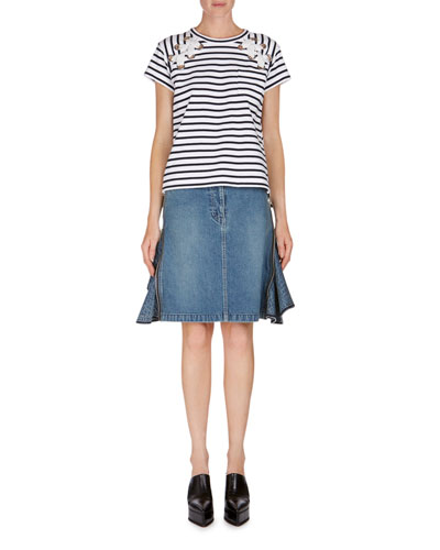 Ruffle-Side Denim Skirt and Matching Items