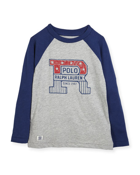 Slub Jersey Cotton Baseball T-Shirt, Size 5-7