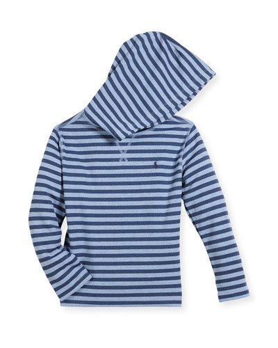 Stripe Waffle-Knit Hooded T-Shirt, Size 2-4 and Matching Items