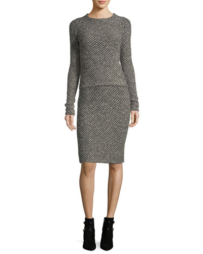 Herringbone Pencil Skirt and Matching Items