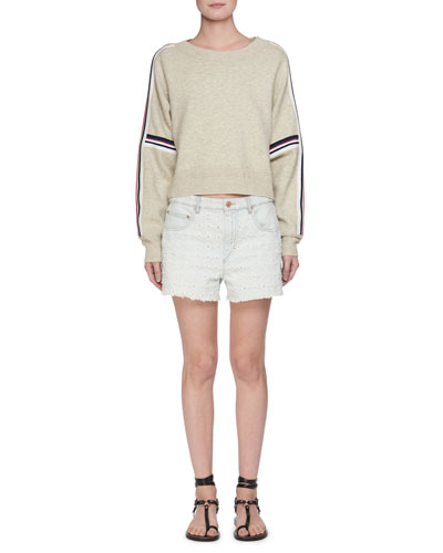 Celsa Perforated Denim Shorts and Matching Items