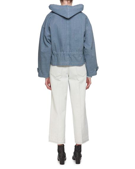 Gatlin Striped Alpaca-Wool Pullover Sweater