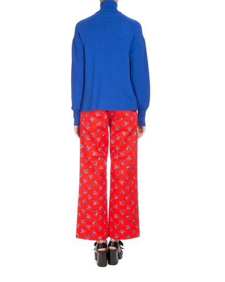 La Collection Memento N°1 Floral-Print Button-Front Trousers