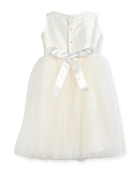 Enchanting Lace-Trim Silk & Tulle Dress, Size 4-6