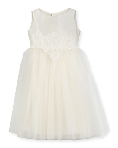 Enchanting Lace-Trim Silk & Tulle Dress, Size 2-3 and Matching Items