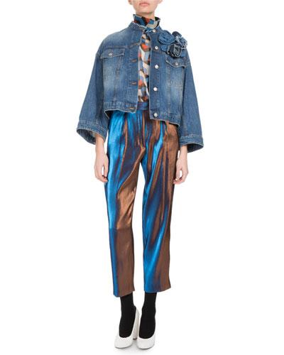 Visti Cropped Denim Jacket and Matching Items