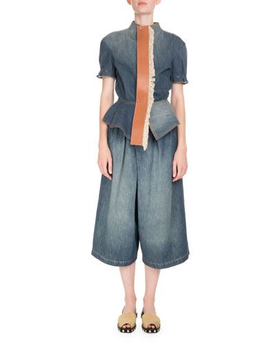 Belted Denim Culottes and Matching Items