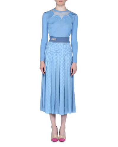 Crepe Satin Jacquard Midi Skirt and Matching Items