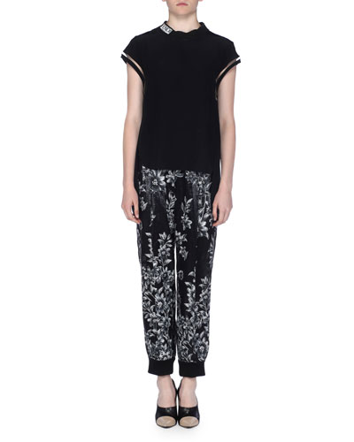 Floral Devore Jogger Pants and Matching Items