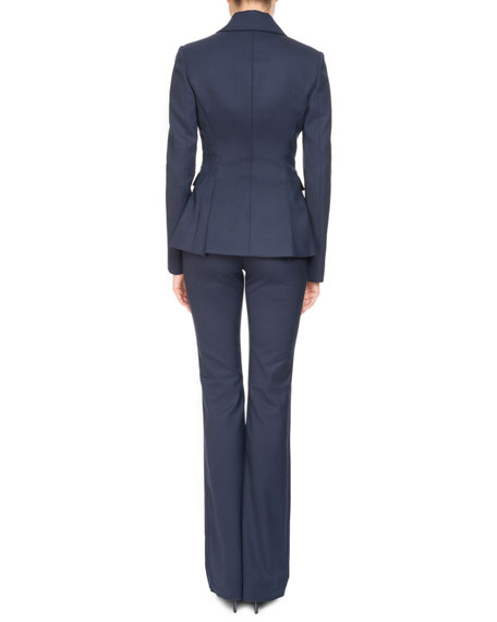 High-Waist Stretch-Wool Pants