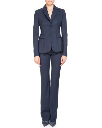 High-Waist Stretch-Wool Pants and Matching Items