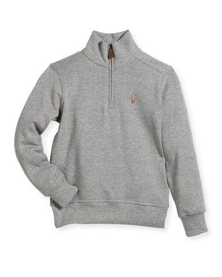 Pima Cotton Half-Zip Pullover Half-Zip Sweater, 5-7