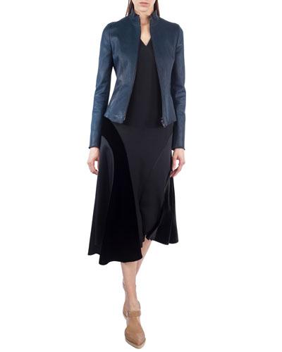 Asymmetric Velvet Midi Skirt and Matching Items