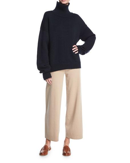 Wide-Leg Merino Wool Pants
