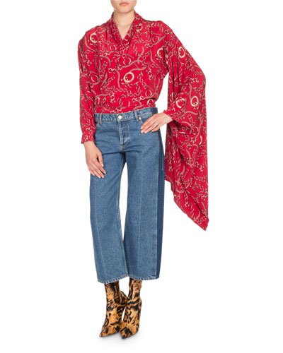 Chain-Print Kimono Wrap Top and Matching Items