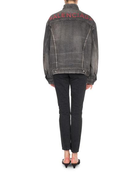High-Waist Denim Tube Jeans