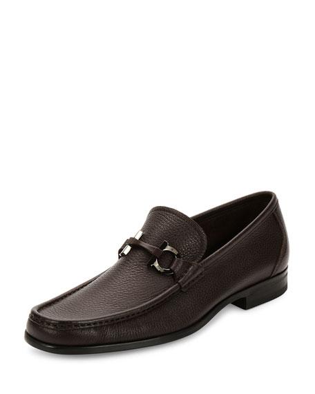 Textured Calfskin Gancini Loafer