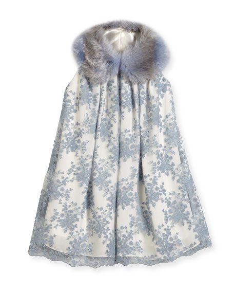 Kid's Faux-Fur Snood, Blue