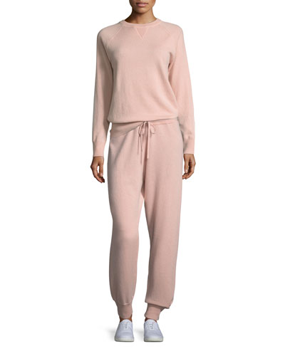 Cashmere Athletic-Stripe Lounge Pants and Matching Items
