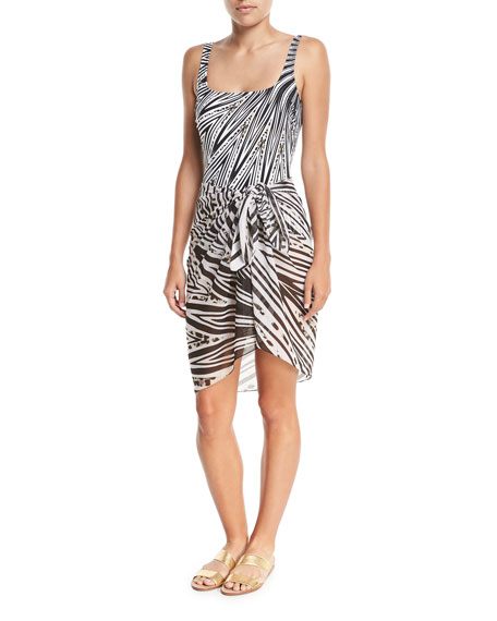 Star Leopard Pareo Swim Coverup