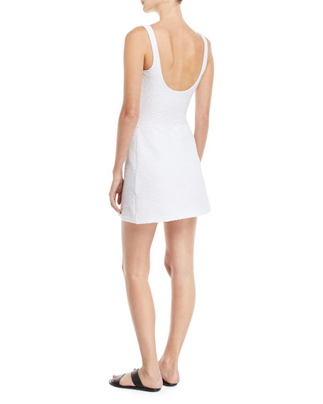 Essence Textured Swim Coverup Mini Skirt