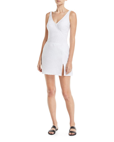 Essence Surplice Textured One-Piece Swimsuit  and Matching Items