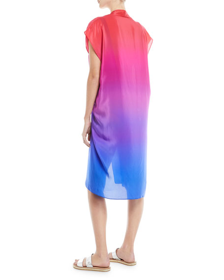 Radiance Belted Pareo Silk Woven Coverup