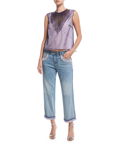 Beaded Crop-Leg Jeans and Matching Items