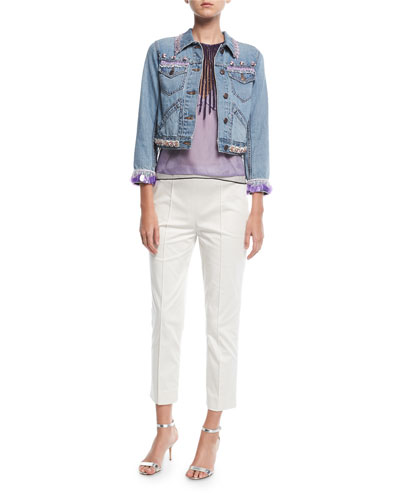 Beaded Denim Jacket and Matching Items