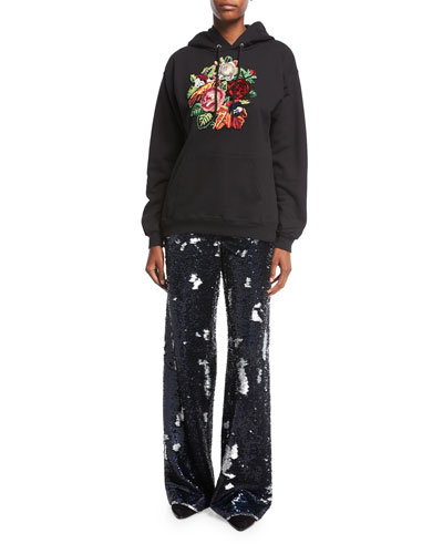 Sequin-Embellished Trousers and Matching Items