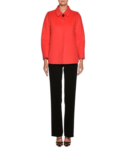 Classic Front-Zip Wool Pants and Matching Items
