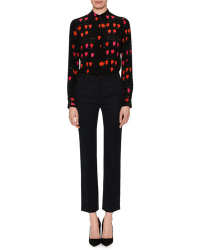 Skinny Cropped Wool Suiting Pants and Matching Items