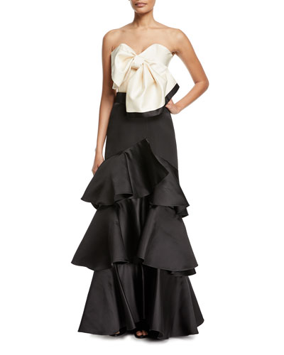 Aragonese Tiered Satin Maxi Skirt and Matching Items