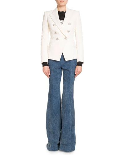 High-Waist Denim Pants and Matching Items