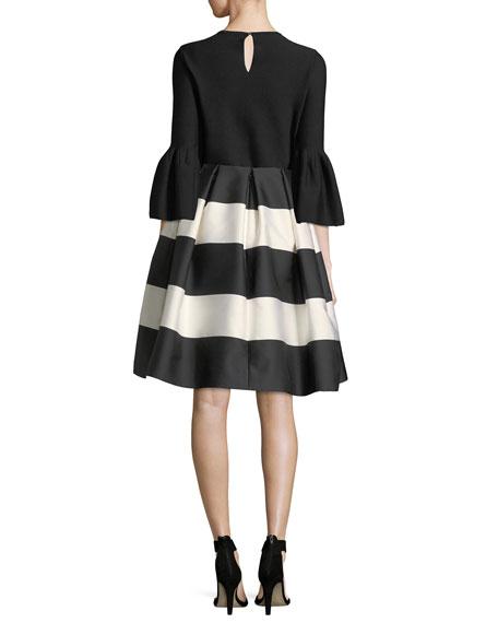 Knit Wool Bell-Sleeve Top