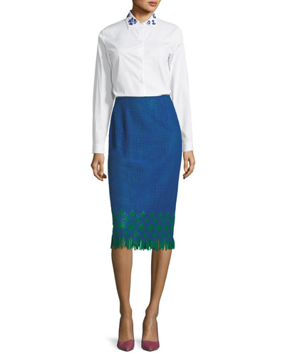 The Kittery Woven Pencil Skirt and Matching Items
