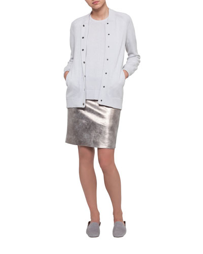 Pearlescent Leather Skirt and Matching Items